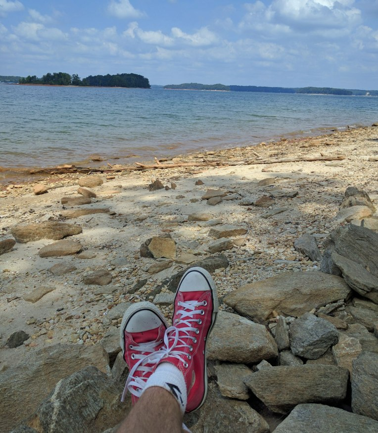 my own private beach at Old Federal Campground