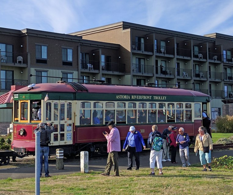 the trolley is only a buck (or $2 to ride all day)