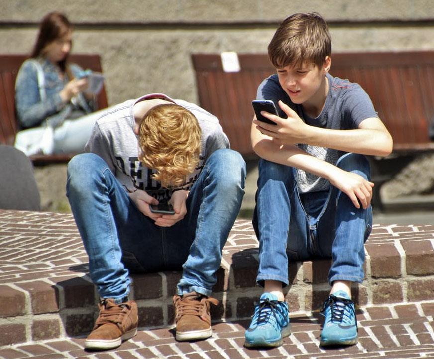 young mobile phone users
